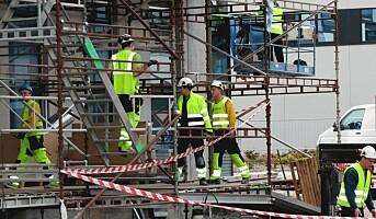 Økt andel nordmenn på byggeplassene