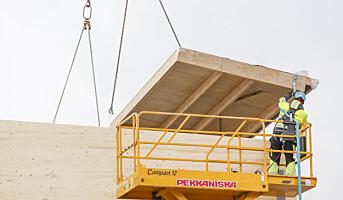 Rask konstruksjon med prefabrikkerte treelementer