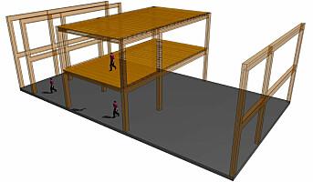 Utvikler byggesystem for høye trehus
