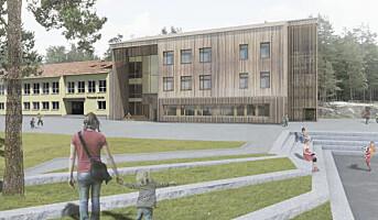 Prinsdal skole får ny ballbane og tilbygg i massivtre