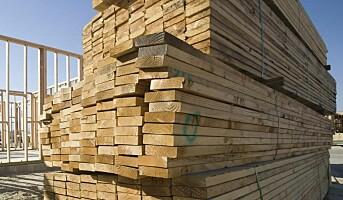 Litt svakere salg av byggevarer