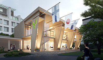 Metsä-paviljong i tre i OL i Tokyo 2020