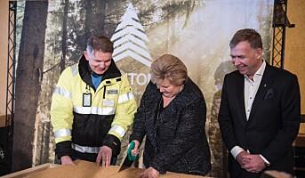 Statsministeren åpnet ny Hunton-fabrikk