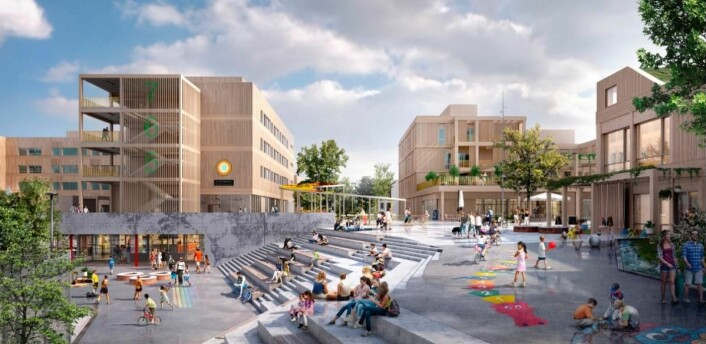 (Illustrasjon: Veidekke / Arkitema Architects)