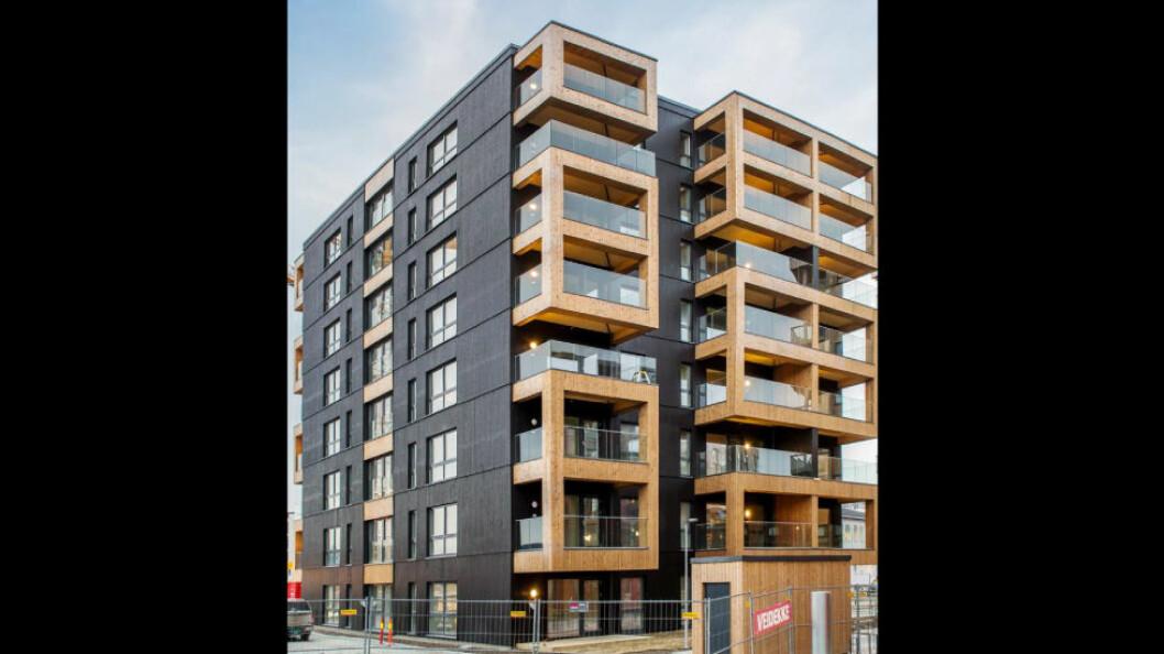 Fjorårets prisvinner: Prosjektet Maskinparken Tre har passivhusstandard og er bygget for det kommersielle markedet. (Foto: Veidekke Eiendom AS)