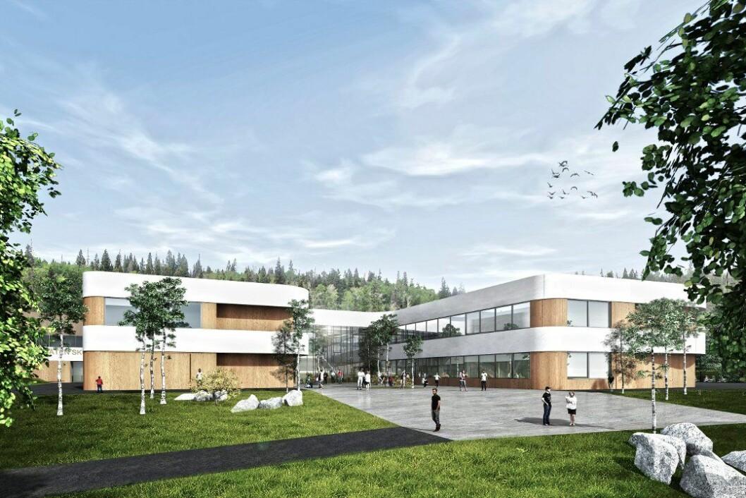 Nye Torvbråten skole. (Arkitekt: Link Arkitektur)