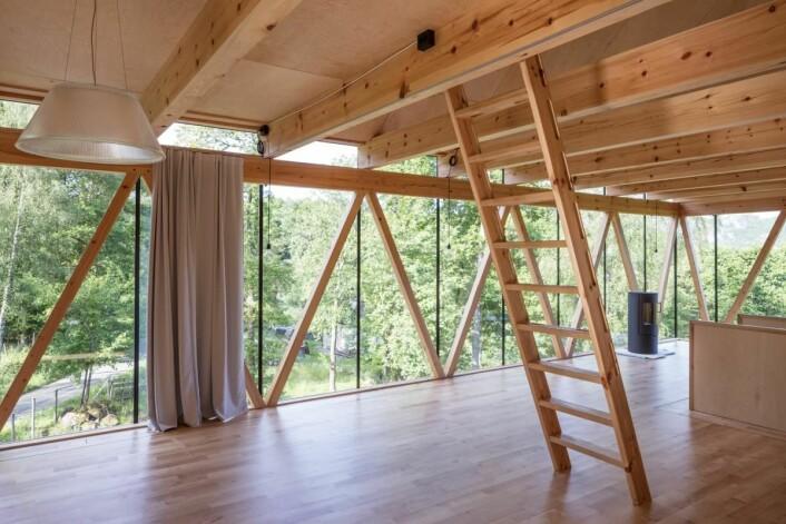 Arkitektkontoret Stiv Kuling AS: «A room with a wiew» i Lyngdal. (Foto: Arkitekten)