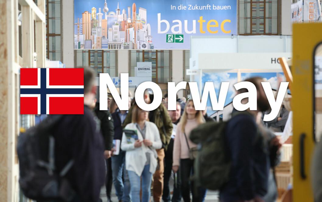I 2020 er Norge det første partnerlandet noensinne på byggemessen bautec i Berlin. (Foto: Messe Berlin)