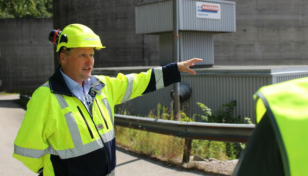 Med et nytt energieffektiviseringsprosjekt viser Norske Skog Saugbrugs og administrerende direktør Kjell Arve Kure igjen resten av bransjen hva det er mulig å få til. Bildet er tatt ved en tidligere anledning.