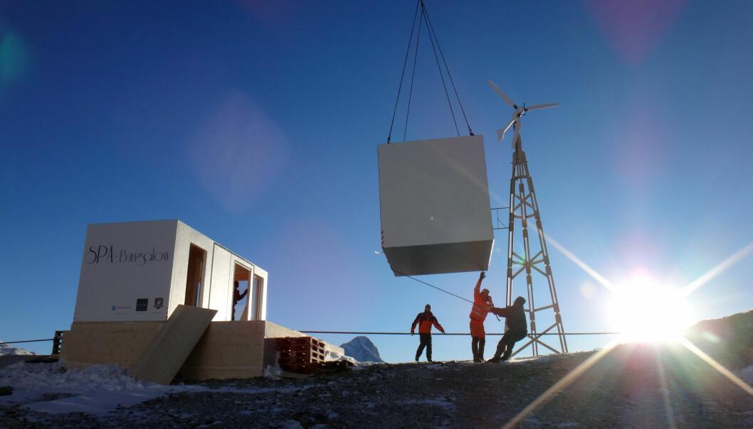 Fra byggeplassen til et SPA-Bungalow i Sveits, bygget av Kerto LVL Q-elementer.