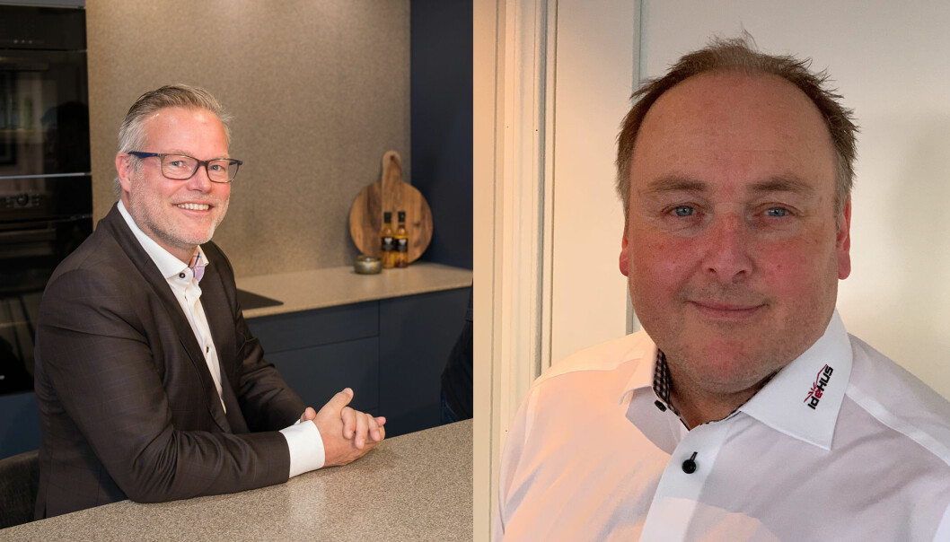 F.v.: Jan Rostad, salgsdirektør i Optimera og John Fornes, markedsleder i Idéhus.