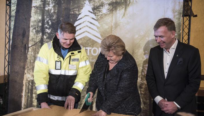 I 2019 åpnet Hunton fabrikk for trefiberisolasjon på Gjøvik.
