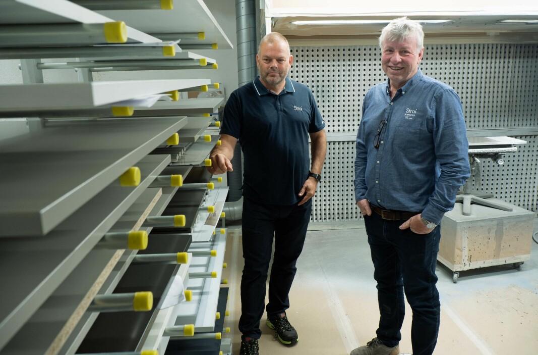 Tørketid var avgjørende for Strai, forteller Bengt Amundsen (til venstre) og Kåre Tobiassen.