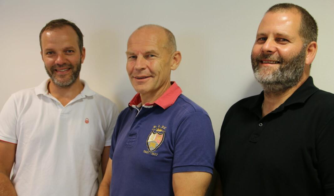 F.v. Johannes Irgens, Øystein Selen og Ole Ivar Bergan i Asker Trelast.
