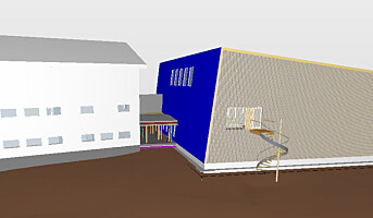 Peab bygger gymsal i massivtre