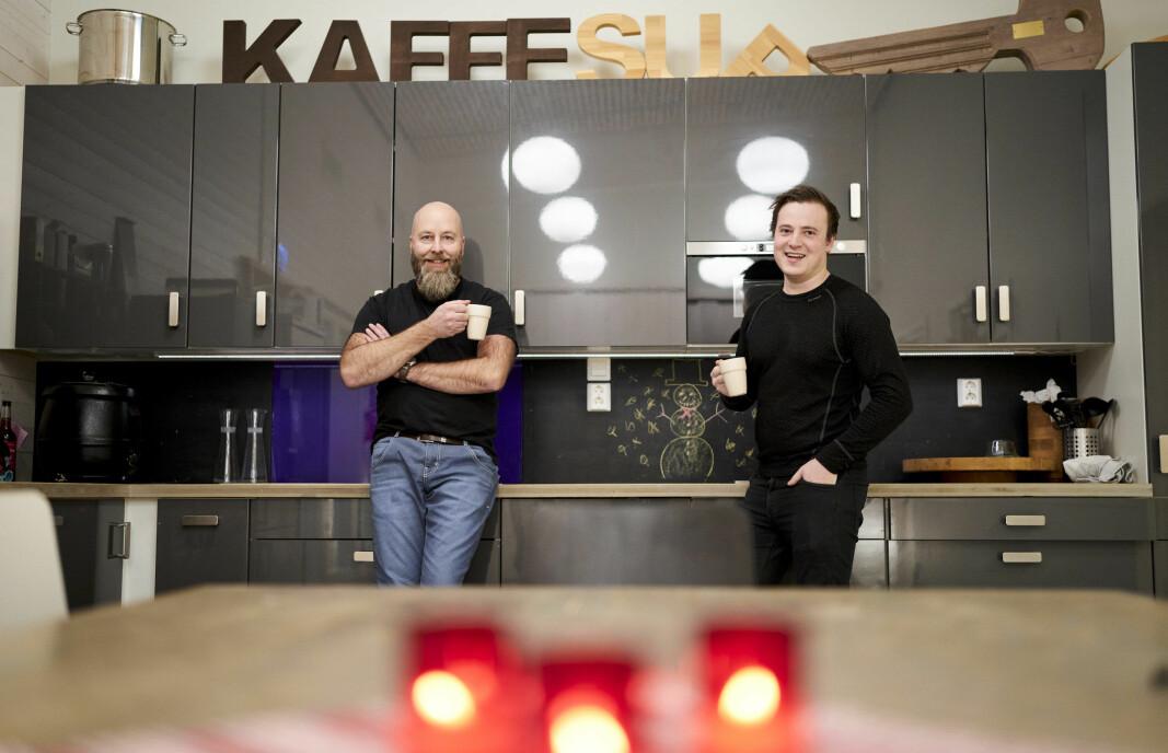 Atle Aune (til venstre) og Eirik Brun-Svendsen eier Arkitre.