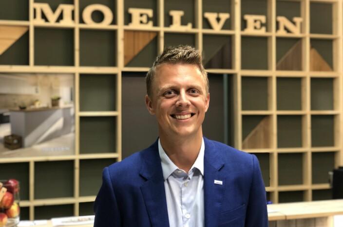 Simen Kristiansen, markedssjef i Moelven Wood AS.