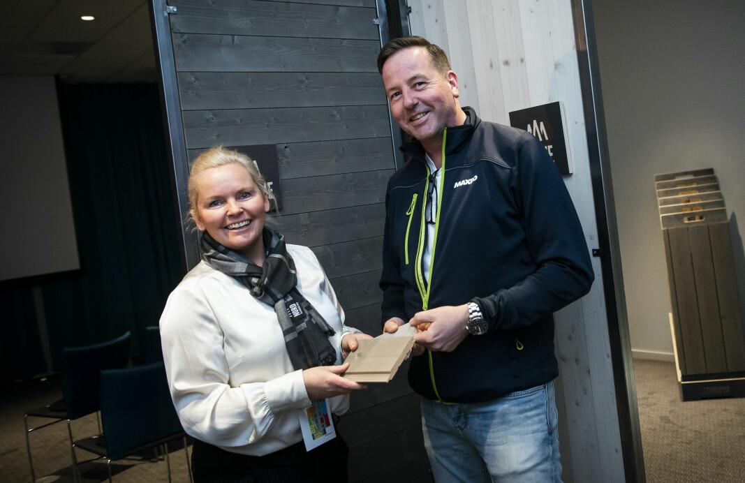 Tone Bente Bergene Holm og Rune Kjølberg fra Maxbo.