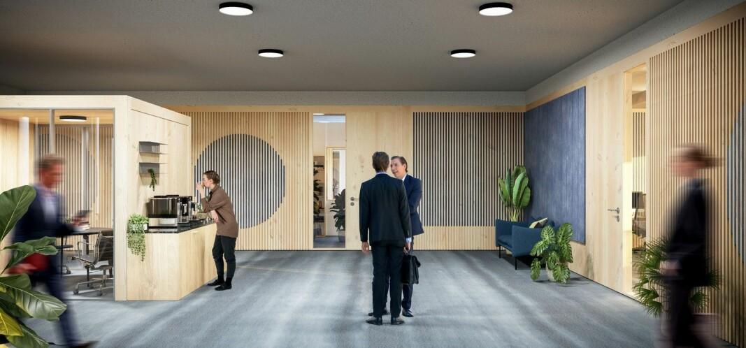 Det nye regjeringskvartalet får skillevegger av norsk gran