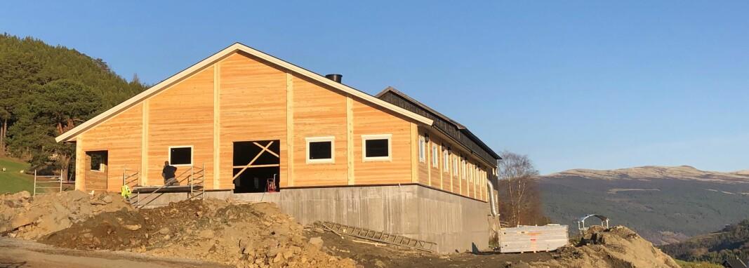 Selv i koronaåret har byggeprosessen gått problemfritt for bonden Erik Steine i Heidal.