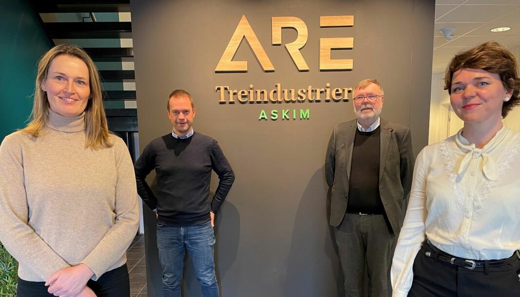 Fra venstre: Styreleder Marianne Bækkevold, medeier og teknisk direktør, Ole Kristian Lund, hovedeier og styrets nestleder, Terje Lie, og konsernleder Marthe Lie
