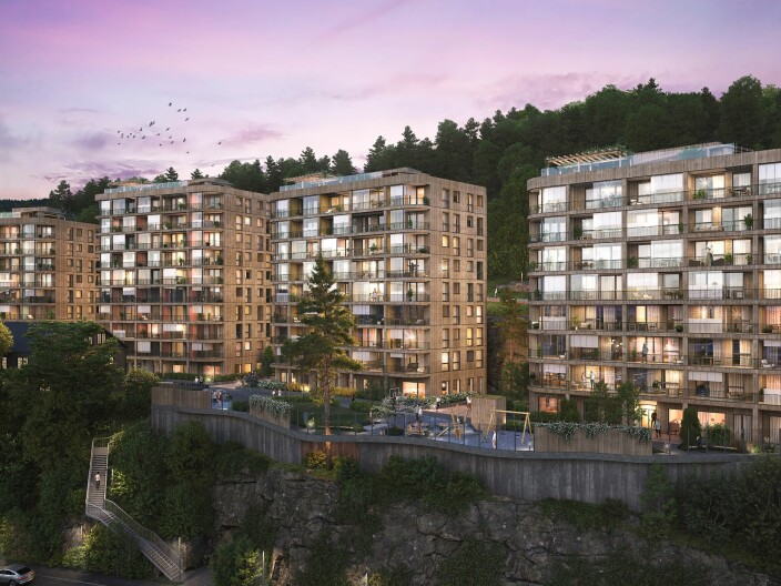 Bygger 163 leiligheter i massivtre