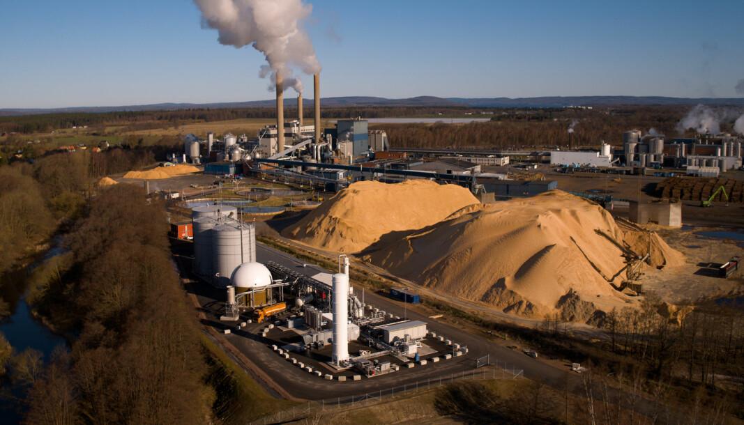 Gasums biogassanlegg ligger på fabrikkområdet til Stora Enso i Nymölla og er koblet til fabrikkens eksisterende prosessvannanlegg.