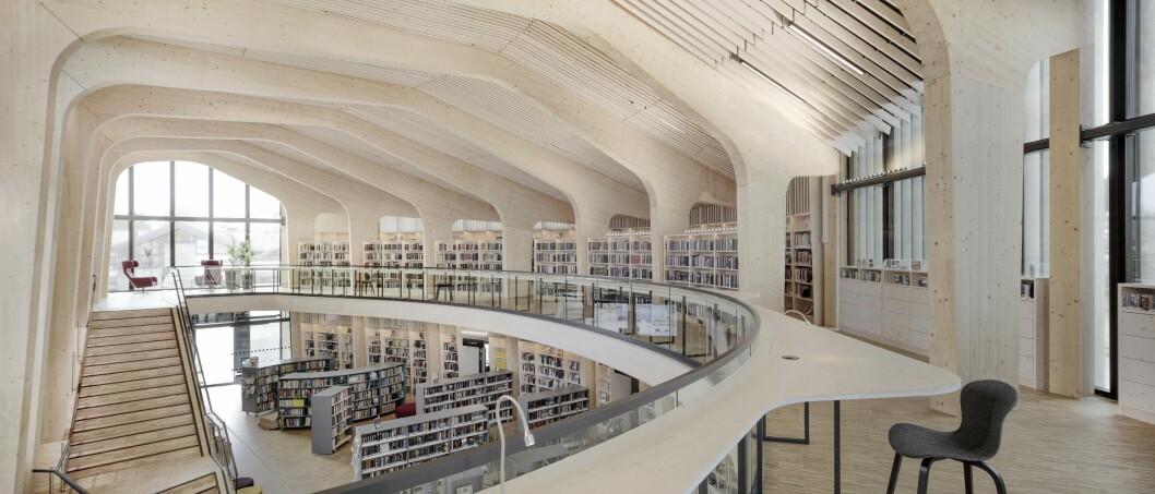 Til det nye biblioteket i Nord-Odal ble alt laget rett fra arkitektens BIM-modell, uten mulighet til å kontrollmåle.