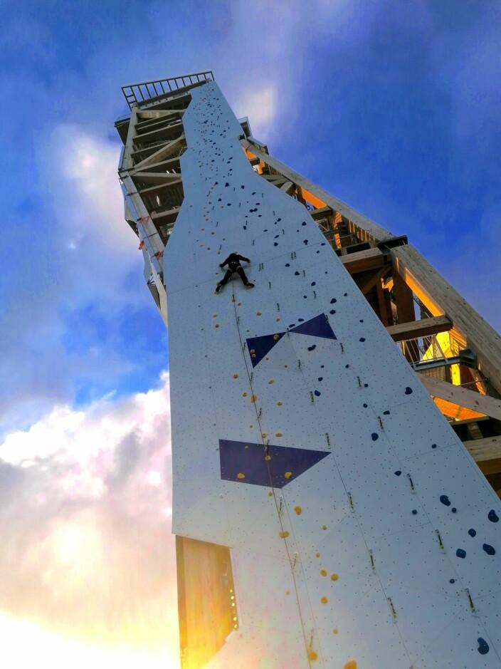 Klatretårnet utenfor Lillesand er verdens høyeste.